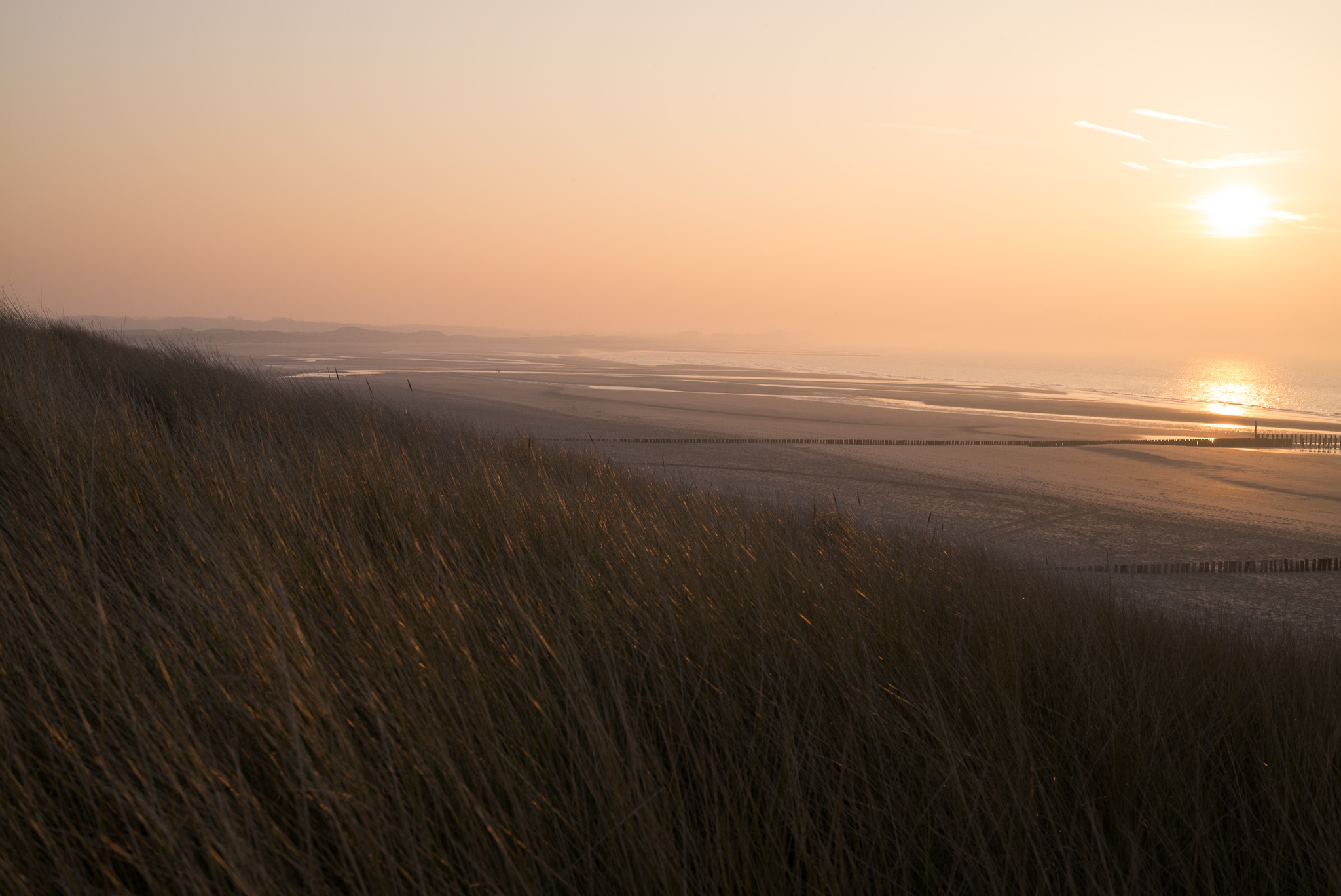 Cadzand-Bad view dunes sea beach netherlands dutch